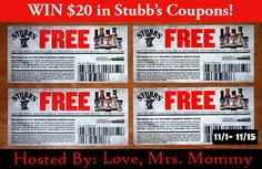 The Stubb's Coupon Giveaway! $20 RV ~ Ends 11/15