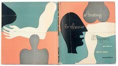 Έργο του Alvin Lustig για το Anatomy for Interior Designers του Francis de N. Schroeder (Whitney Publications, Νέα Υόρκη 1948). Ο διακριτικός τρόπος γραφής του Lustig ήταν το κύριο χαρακτηριστικό αυτών των πρώιμων εξωφύλλων. Σε μεταγενέστερες εκδόσεις αντικαταστάθηκε από μια μάλλον άσχημη γραμματοσειρά την Akzidenz-Grotesk Bold. Αναπαραγωγή από το  Alvin Lustig Archive.