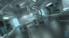 Feld like making a clean design, so first thing came up was a Medical bay with support of robotics. a vacation project Can be used with this chamber: --. Spaceship Interior, Futuristic Interior, Data Architecture, Environment Concept Art, Shadowrun, Sci Fi Fantasy, Sci Fi Art, Deviantart, Spacecraft