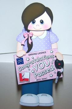 3D On the Shelf Card Kit - Georgina has passed her Driving Test! - Photo by Katie Silver