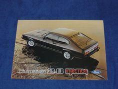 Ford Capri 2.8i 2.8 Injection Rare Spanish Brochure Prospekt Folleto