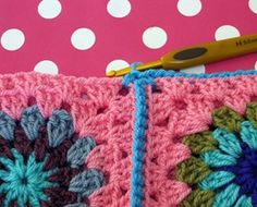 How to Crochet Granny Squares Together (tutorial)