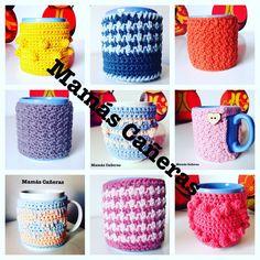 Fundas para tazas a crochet Mugs, Tableware, Cotton, Farmhouse Rugs, Table Toppers, Weaving, The Creation, Lets Go, Cases