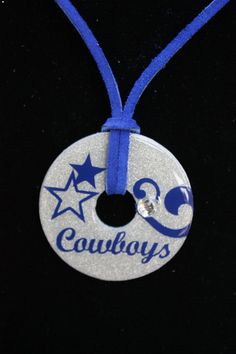 Dallas Cowboy Football Metal Washer Pendant by SweetAnnMarie, $12.00
