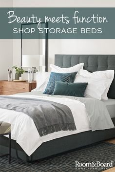 Maximize your bedroom space with a modern storage bed.