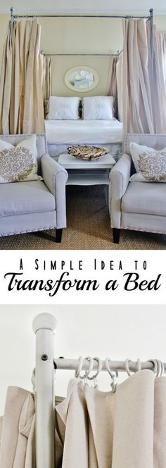 Simple Idea To Transform a Bed