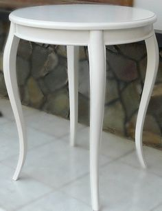 Antoinette Round Side Table - White - LIMITED STOCK - Canalside Interiors