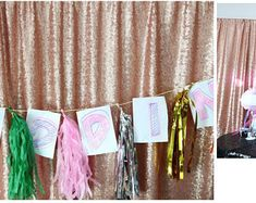 Blush Sequin Wedding Curtain 3 Ft by 7 Ft Backdrop Sequin, Add Elegant Shiny Sequins For Special Events, Party, Weddings, Birthdays, Shower