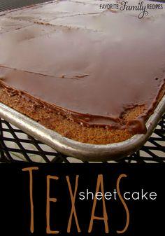 Texas Sheet Cake - Favorite Family Recipes
