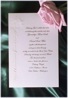 god is love christian script wedding invitation christian wedding