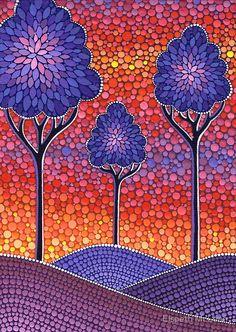 18 Ideas For Stone Art Painting Tree Mandala Art, Mandala Painting, Mandala Design, Dot Art Painting, Stone Painting, Kunst Der Aborigines, Tableau Pop Art, Aboriginal Art, Art Plastique