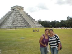My sister and I at Chichen Itza