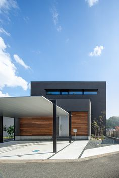 Car Porch Design, Garage Door Design, Design Your Dream House, House Design, Garage Canopies, Modern Carport, Basement Entrance, Japanese Style House, Casa Loft