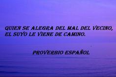 Proverbio español