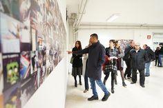 Bari il sindaco a Spazio13 per linaugurazione della mostra #Nontiscordardimelo
