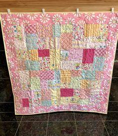 Nursery Bedding Crib Quilt Pink Blanket Room Decor Custom Rag Quilt Baby Girl Blanket Minnie Handmade Quilt Patchwork Quilt