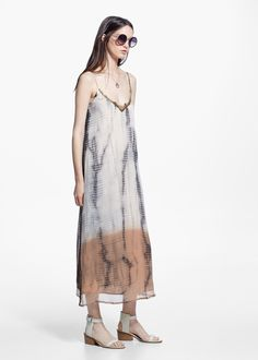 Tie-dye chiffon dress