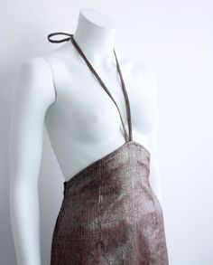 ON SALE A-Line Halter skirt Metallic Silk by iheartnorwegianwood on Etsy
