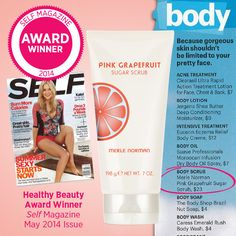 We are thrilled to share that our Pink Grapefruit Sugar Scrub won a SELF Magazine Healthy Beauty Award! Skin Care Regimen, Skin Care Tips, Deep Conditioning, Moisturize Hair, Beauty Awards, Pink Grapefruit, Healthy Beauty, Body Butter, Acne Treatment