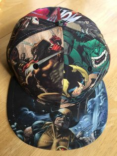 89759de22a1 MARVEL Comics Wolverine New Era Hat Cap Fitted 7 3 8 Superheroes Hulk 59  Fifty
