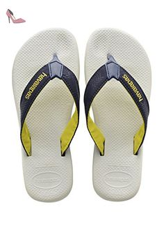 Havaianas Tongs Homme Surf Pro White/Navy Blue-EU :43/44-BR:41/42 - Chaussures havaianas (*Partner-Link)