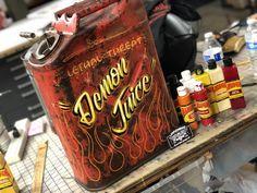 Pinstripe Art, Lowrider Art, Garage Renovation, Nobby, Jerry Can, Sign Writing, Ac Cobra, Birth Gift, School Signs