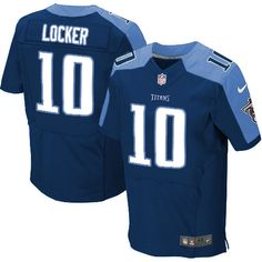 47a3aa80c Mens Nike Tennessee Titans  10 Jake Locker Elite Dark Blue Alternate Jersey   129.99