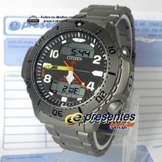 9f552f28050 JP3050-55W Relógio Citizen Promaster Aquamount Titanio