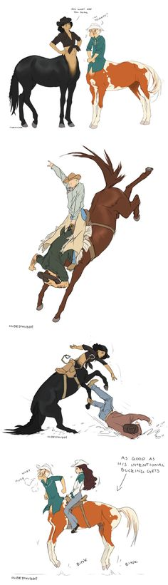 Black Jack, Aerick, Tabasco, and Sawyer centaur Magical Creatures, Fantasy Creatures, Character Inspiration, Character Art, Performance Artistique, Manga Anime, Anime Art, Poses References, Wow Art