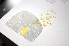 Print in Cursive Gray-Yellow-Letterpress-Elephant-Birth-Announcement2