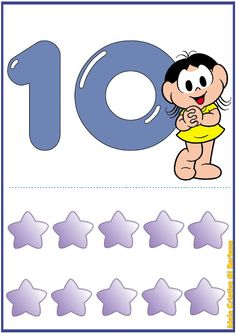 Numbers Preschool, Crafts For Kids, Craft Kids, Kindergarten, Illustration Art, Education, Pints, Number Posters, Free Printable