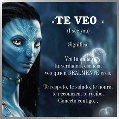 ... TE VEO, significa: Veo tu alma, tu verdadera esencia, veo quien REALMENTE eres. Te respeto, te saludo, te honro, te reconozco, te recibo... Conecto contigo...