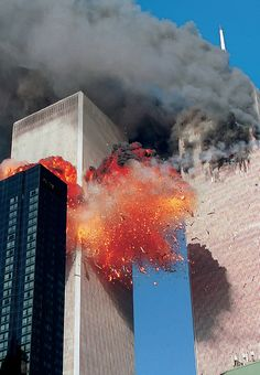 South Tower impact--9/11/2001 Never Forget!!