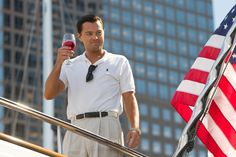 The Wolf of Wall Street star Leonardo DiCaprio keeps it classic in Polo on set of the film