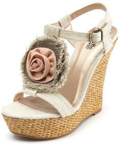 Charlotte Russe Rosette Wedge Adorable