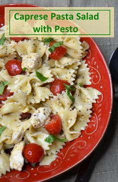 Perfect for dinner, a potluck, or a backyard barbecue! Caprese pasta salad with pesto is simple to make and tastes like something you'd find in a fancy Italian restaurant. You only need about 20 minutes to mix up this bow tie pasta salad and since it's served cold, it's perfect for making ahead. This pasta salad with pesto makes a great summer side dish or light meal. Click here to get the farfalle pasta salad with pesto recipe. Best Pasta Dishes, Caprese Pasta Salad, Farfalle Pasta, Best Salad Recipes, Summer Side Dishes, Tomato And Cheese, Vegetarian Entrees, Pesto Recipe, How To Cook Pasta