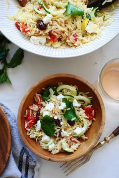 Greek Orzo Pasta Sal
