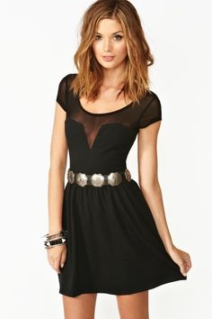 Mesh Skater Dress - Black in Clothes Dresses at Nasty Gal Dress Outfits, Cute Outfits, Fashion Outfits, Womens Fashion, Dress Fashion, Estilo Rock, Mein Style, Up Girl, Mesh Dress