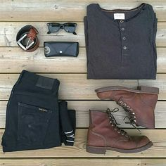 Outfit grid - Boots & jeans More