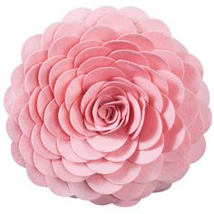 Saro Round Felt Flower Decorative Pillow (Rose) ($25) ❤ liked on Polyvore featuring home, home decor, throw pillows, pink, pink accent pillows, pink toss pillows, flower stems, flower throw pillows and patterned throw pillows