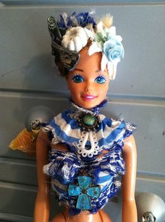65394d2ee4 Jester - altered Barbie art doll
