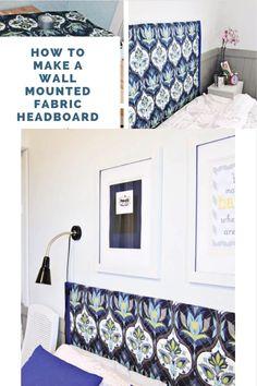 Canvas Headboard, Diy Fabric Headboard, How To Make Headboard, Modern Headboard, Diy Headboards, Homemade Headboards, Upholstered Headboards, Diy Outdoor Furniture, Diy Furniture