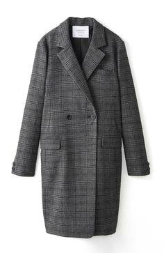 エムトロワ さっと羽織るだけで女らしくてかっこいい、グレンチェックコート <グレー>の商品写真1
