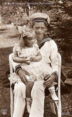 Prinz ´Wilhelm von Preussen mit Schwester Alexandrine