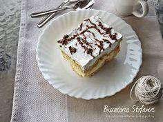 "Bucataria Stefaniei: Tort ""Ecler"" cu mascarpone si vanilie Pancakes, Deserts, Pie, Baking, Breakfast, Food, Community, Google, Mascarpone"