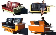 vintage bar benchseat 2 loveseat conversion!