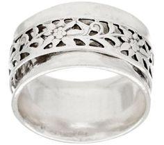 Or Paz Vine Design Sterling Spinner Ring