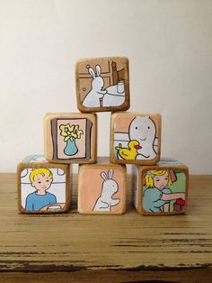 Pat the Bunny // Childrens Book Blocks // Natural Wood Toy on Etsy, $22.00