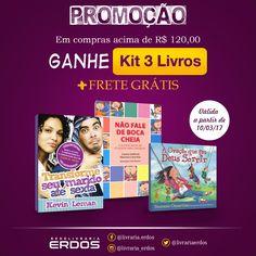 Começa agora a Promoção! 🏷😁 Em compras acima de R$ 120,00 você ganha um Kit com 3 livros e ainda a opção de Frete Grátis ❤😍📚 APROVEITE!