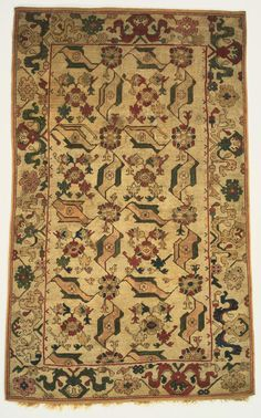 """Philadelphia Museum of Art - Collections Object : Bird Rug""""Bird"""" Rug Artist/maker unknown, Turkish Geography: Made in Anatolia, Turkey, Asia"""